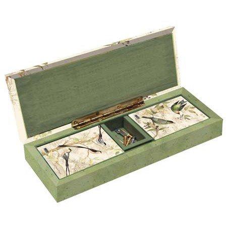 ボードゲーム 英語 アメリカ 海外ゲーム LANG - Cribbage Board Set - Tropical Birds - Art by Susan Winget - 2 Decks Poker-size Cards - Hinged Storage Board - Metal Pegsボードゲーム 英語 アメリカ 海外ゲーム