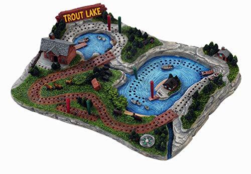 ボードゲーム 英語 アメリカ 海外ゲーム 【送料無料】Outside Inside - Hand Painted Trout Lake Cribbage Boardボードゲーム 英語 アメリカ 海外ゲーム