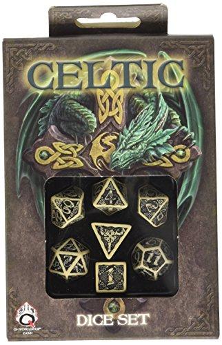 ボードゲーム 英語 アメリカ 海外ゲーム Q WORKSHOP Celtic 3D Dice Beige/Black (7) Board Gameボードゲーム 英語 アメリカ 海外ゲーム