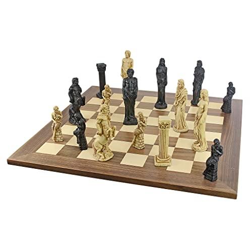 ボードゲーム 英語 アメリカ 海外ゲーム 【送料無料】Design Toscano Gods of Greek Mythology Complete Chess Set, 6 Inch, 16 Pieces and Board, Two Tone Stoneボードゲーム 英語 アメリカ 海外ゲーム