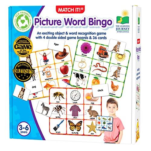 ボードゲーム 英語 アメリカ 海外ゲーム The Learning Journey: Match It! Bingo - Picture Word - Reading Game for Preschool and Kindergarten 36 Picture Word Cardsボードゲーム 英語 アメリカ 海外ゲーム
