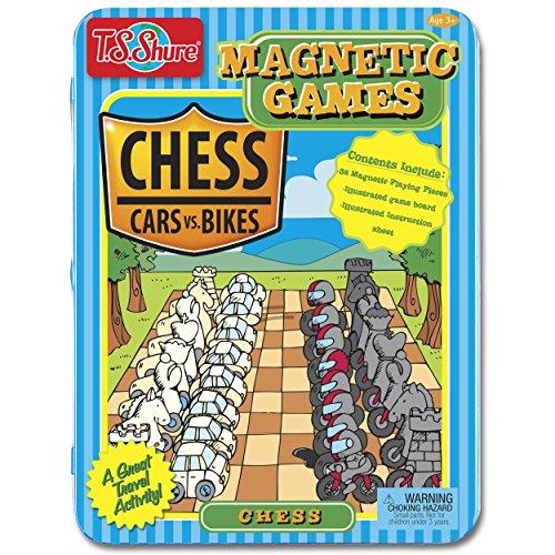 ボードゲーム 英語 アメリカ 海外ゲーム 【送料無料】T.S. Shure Tin Cars vs. Bikes Theme Magnetic Chess Gameボードゲーム 英語 アメリカ 海外ゲーム