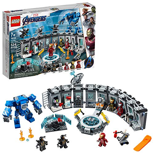 レゴ ニンジャゴー 【送料無料】LEGO Marvel Avengers Iron Man Hall of Armor 76125 Building Kit Marvel Tony Stark Iron Man Suit Action Figures (524 Pieces)レゴ ニンジャゴー