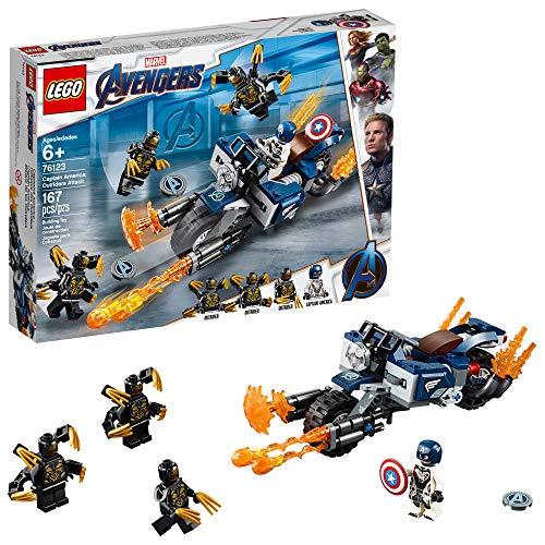 レゴ LEGO Marvel Avengers Captain America: Outriders Attack 76123 Building Kit, New 2019 (167 Pieces)レゴ