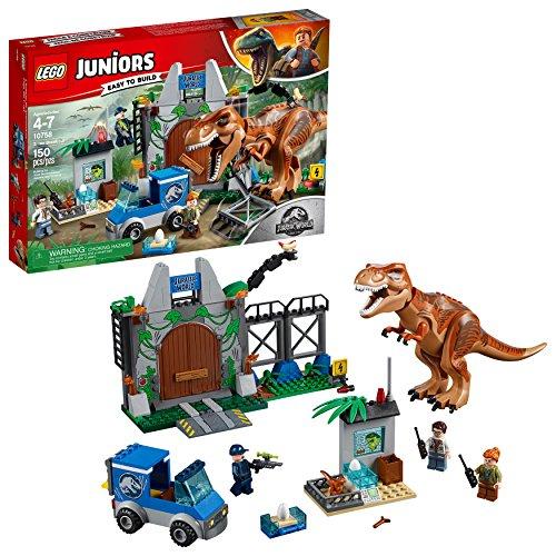 無料ラッピングでプレゼントや贈り物にも 逆輸入並行輸入送料込 送料無料 レゴ ジュニア 10758 ジュラシックワールド T-レックスの脱走 LEGO 送料無料新品 お洒落 JUNIORS 150ピース