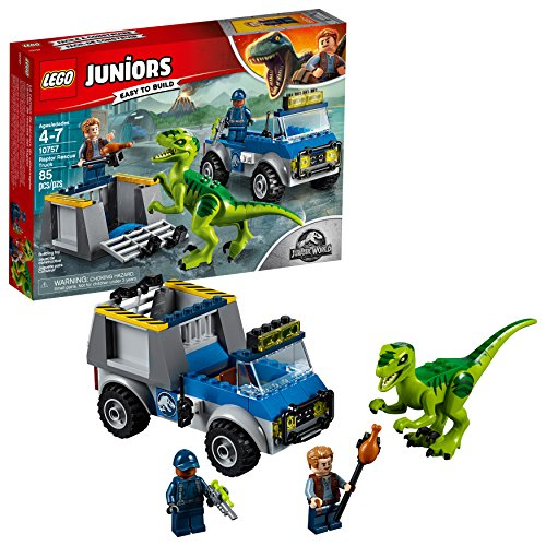 レゴ 【送料無料】LEGO Juniors/4+ Jurassic World Raptor Rescue Truck 10757 Building Kit (85 Pieces)レゴ
