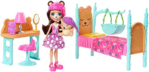 エンチャンティマルズ 人形 ドール Enchantimals Dreamy Bedroom Playset + Bren Bear Doll & Snore Figureエンチャンティマルズ 人形 ドール