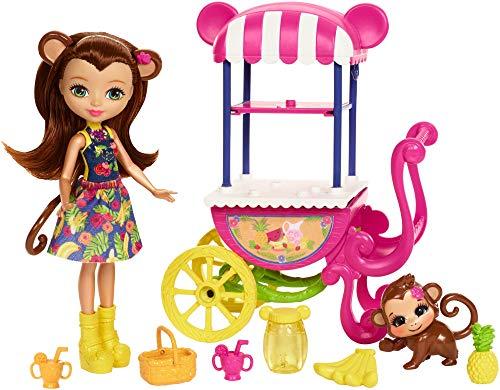 エンチャンティマルズ 人形 ドール 【送料無料】Enchantimals Fruit Cart Doll Setエンチャンティマルズ 人形 ドール