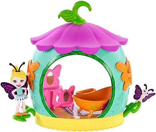 エンチャンティマルズ 人形 ドール 【送料無料】Enchantimals Cocoon Bathroom Playset with Baxi Butterfly Dollエンチャンティマルズ 人形 ドール