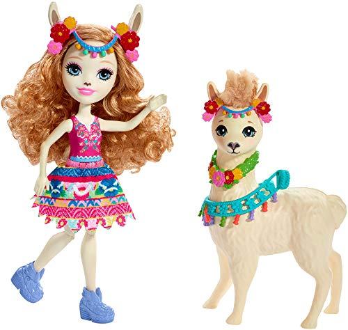 エンチャンティマルズ 人形 ドール 【送料無料】Enchantimals Lluella Llama Doll & Fleecy Figureエンチャンティマルズ 人形 ドール