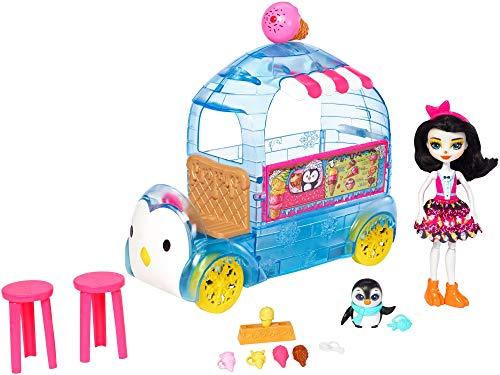 エンチャンティマルズ 人形 ドール 【送料無料】Enchantimals Wheel Frozen Treats Preena Penguin Doll & Playsetエンチャンティマルズ 人形 ドール