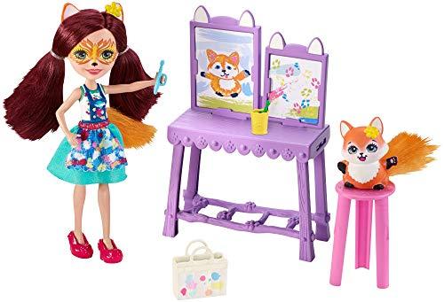 エンチャンティマルズ 人形 ドール 【送料無料】Enchantimals Art Studio Playset with Felicity Fox Dollエンチャンティマルズ 人形 ドール