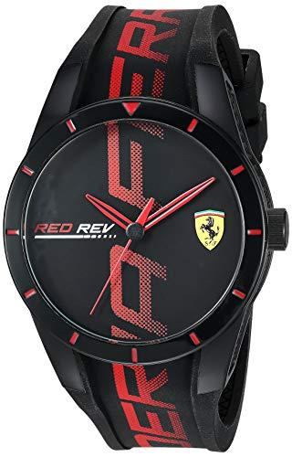 フェラーリ 腕時計 メンズ 【送料無料】Ferrari Men's RedRev Quartz Plastic and Silicone Strap Casual Watch, Color: Black (Model: 830614)フェラーリ 腕時計 メンズ