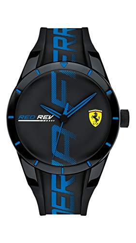 フェラーリ 腕時計 メンズ 【送料無料】Ferrari Men's RedRev Quartz Plastic and Silicone Strap Casual Watch, Color: Black (Model: 830616)フェラーリ 腕時計 メンズ