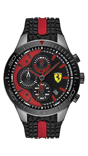 フェラーリ 腕時計 メンズ Ferrari Men's RedRev Quartz Black IP and Silicone Strap Casual Watch, Color: Black (Model: 830592)フェラーリ 腕時計 メンズ