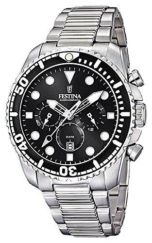 フェスティナ フェスティーナ スイス 腕時計 メンズ 【送料無料】Festina Men's Chronograph Quartz Watch with Stainless Steel Strap F16564/Cフェスティナ フェスティーナ スイス 腕時計 メンズ