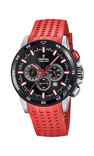 フェスティナ フェスティーナ スイス 腕時計 メンズ 【送料無料】Festina Mens Chronograph Quartz Watch with Silicone Strap F20353/8フェスティナ フェスティーナ スイス 腕時計 メンズ