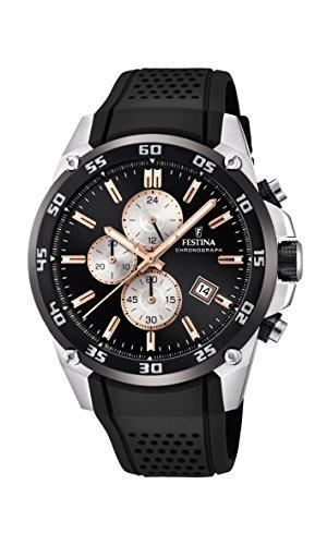 フェスティナ フェスティーナ スイス 腕時計 メンズ 【送料無料】Festina 'The Originals Collection' Men's Quartz Watch with Black Dial Chronograph Display and Black Rubber Strap F20330/6フェスティナ フェスティーナ スイス 腕時計 メンズ