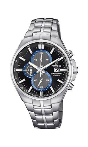 腕時計 フェスティナ フェスティーナ スイス メンズ 【送料無料】Festina Mens Chronograph Quartz Connected Wrist Watch with Stainless Steel Strap F6862/2腕時計 フェスティナ フェスティーナ スイス メンズ