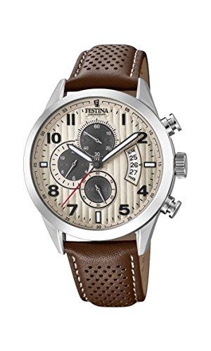 腕時計 フェスティナ フェスティーナ スイス メンズ 【送料無料】Festina Mens Chronograph Quartz Watch with Leather Strap F20271/2腕時計 フェスティナ フェスティーナ スイス メンズ