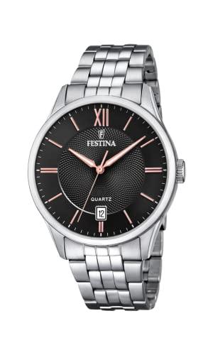 腕時計 フェスティナ フェスティーナ スイス メンズ 【送料無料】Festina | Mens Stainless Steel Bracelet | Black/Rose Dial | F20425/6腕時計 フェスティナ フェスティーナ スイス メンズ