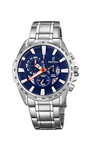 フェスティナ フェスティーナ スイス 腕時計 メンズ 【送料無料】Festina Mens Chronograph Quartz Connected Wrist Watch with Stainless Steel Strap F6864/3フェスティナ フェスティーナ スイス 腕時計 メンズ