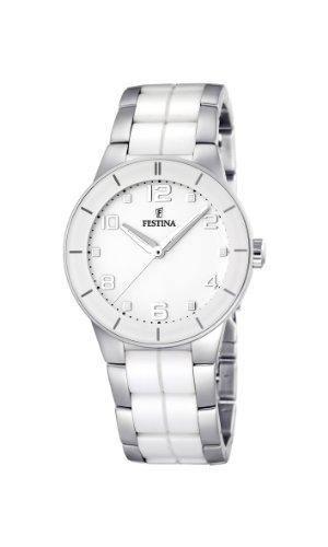 腕時計 フェスティナ フェスティーナ スイス レディース 【送料無料】Festina Ladies Watch F16531/1 with White Ceramic Inlay腕時計 フェスティナ フェスティーナ スイス レディース