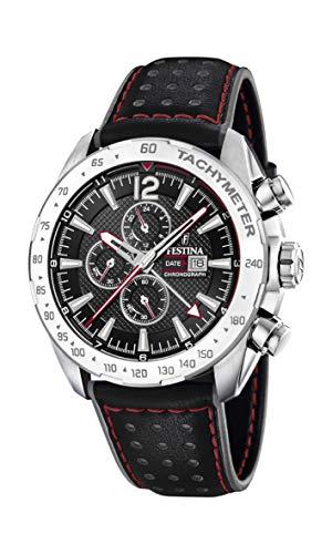 フェスティナ フェスティーナ スイス 腕時計 レディース 【送料無料】Festina   Mens Chronograph & Dual Time   Black Dial   Leather Strap F20440/4フェスティナ フェスティーナ スイス 腕時計 レディース