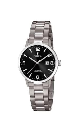 フェスティナ フェスティーナ スイス 腕時計 レディース 【送料無料】Festina | Womens Titanium | Black Dial | Titanium Bracelet | F20436/3フェスティナ フェスティーナ スイス 腕時計 レディース