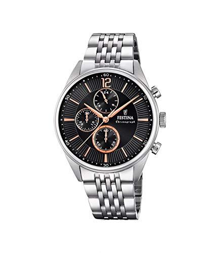 フェスティナ フェスティーナ スイス 腕時計 レディース 【送料無料】FESTINA Watch Timeless Male Chronograph Black - F20285-6フェスティナ フェスティーナ スイス 腕時計 レディース