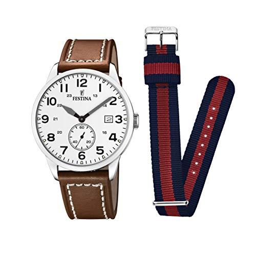 フェスティナ フェスティーナ スイス 腕時計 レディース 【送料無料】Men's Watch Festina Retro - F20347/5 - Quartz - Date - Leather and Nylon Strapフェスティナ フェスティーナ スイス 腕時計 レディース