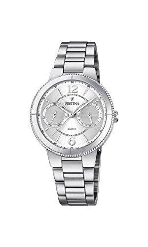 フェスティナ フェスティーナ スイス 腕時計 レディース 【送料無料】Festina Women's Autumn-Winter 17 Quartz Watch with Stainless Steel Strap, Silver, 18 (Model: F20206/1)フェスティナ フェスティーナ スイス 腕時計 レディース
