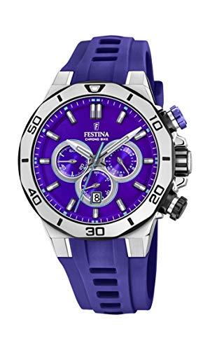 フェスティナ フェスティーナ スイス 腕時計 レディース 【送料無料】Festina Unisex Adult Chronograph Quartz Watch with Silicone Strap F20449/Dフェスティナ フェスティーナ スイス 腕時計 レディース