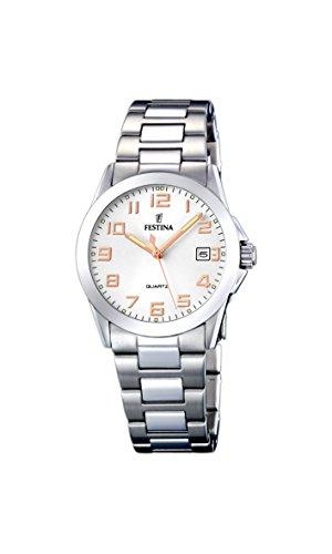 フェスティナ フェスティーナ スイス 腕時計 レディース 【送料無料】Festina Women's Quartz Watch Klassik F16377/3 with Metal Strapフェスティナ フェスティーナ スイス 腕時計 レディース