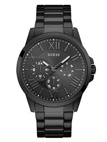 ゲス GUESS 腕時計 メンズ 【送料無料】GUESS Stainless Steel Black Ionic Plated Bracelet Watch with Day, Date + 24 Hour Military/Int'l Time. Color: Black (Model: U1184G3)ゲス GUESS 腕時計 メンズ