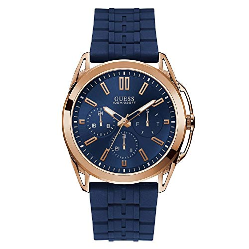 腕時計 ゲス GUESS メンズ 【送料無料】Guess Vertex Mens Analog Japanese Quartz Watch with Silicone Bracelet W1177G4腕時計 ゲス GUESS メンズ