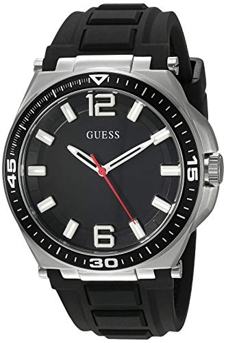 ゲス GUESS 腕時計 メンズ 【送料無料】GUESS Comfortable Black Stain Resistant Silicone Watch with Second-Hand. Color: Black (Model: U1253G1)ゲス GUESS 腕時計 メンズ