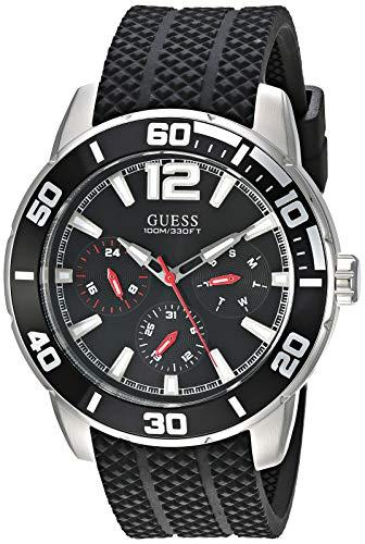 ゲス GUESS 腕時計 メンズ 【送料無料】GUESS Men's Stainless Steel Quartz Watch with Silicone Strap, Black, 22.5 (Model: U1250G1)ゲス GUESS 腕時計 メンズ