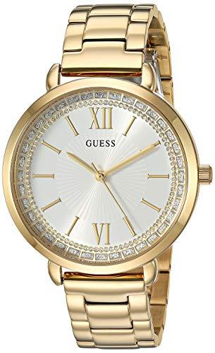 ゲス GUESS 腕時計 レディース 【送料無料】GUESS Gold-Tone Stainless Steel Crystal Bracelet Watch. Color: Gold-Tone (Model: U1231L2)ゲス GUESS 腕時計 レディース
