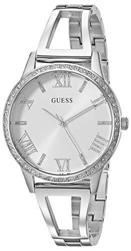 ゲス GUESS 腕時計 レディース 【送料無料】GUESS Women's Quartz Watch with Stainless-Steel Strap, Silver, 12 (Model: U1208L1)ゲス GUESS 腕時計 レディース
