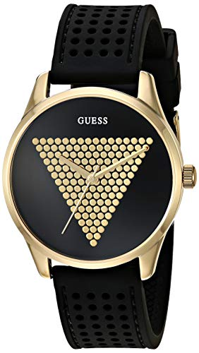 ゲス GUESS 腕時計 レディース 【送料無料】GUESS Women's Stainless Steel Japanese Quartz Watch with Silicone Strap, Black, 18 (Model: U1227L2)ゲス GUESS 腕時計 レディース