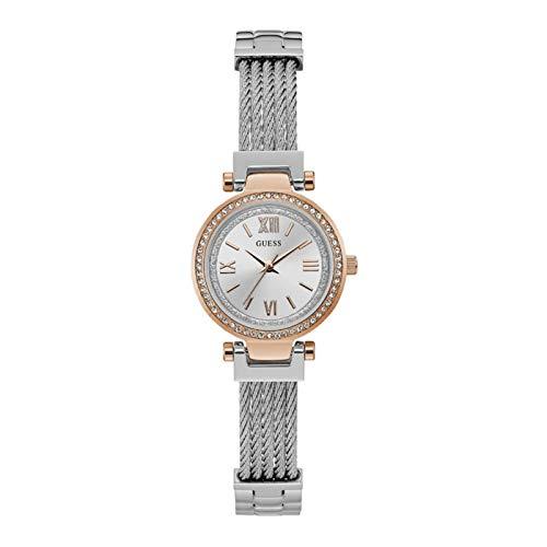 """ゲス GUESS 腕時計 レディース 【送料無料】GUESS Women""""s Quartz ANALONG Watch 27mm Steel Bracelet & Case Quartz Silver-Tone Dial Analog Watch W1009L4ゲス GUESS 腕時計 レディース"""