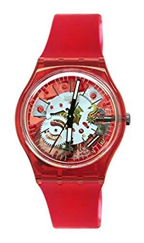 スウォッチ 腕時計 メンズ 【送料無料】Swatch Men's Quartz Watch with Silicone Strap, Red, 20 (Model: GR178)スウォッチ 腕時計 メンズ