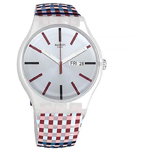 腕時計 スウォッチ メンズ 夏の腕時計特集 【送料無料】Swatch Merenda Quartz Movement Blue Dial Unisex Watch SUOW709腕時計 スウォッチ メンズ 夏の腕時計特集