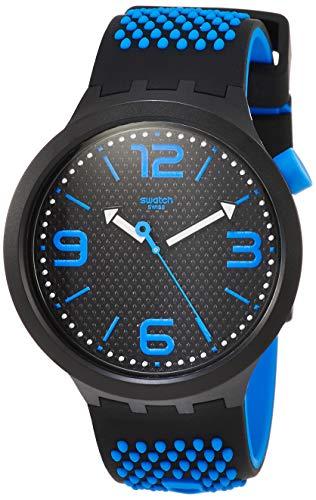 スウォッチ 腕時計 メンズ 【送料無料】Swatch Men's Quartz Watch with Silicone Strap, Black, 23 (Model: SO27B101)スウォッチ 腕時計 メンズ
