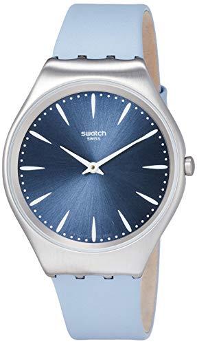 腕時計 スウォッチ メンズ 夏の腕時計特集 【送料無料】Swatch Men's Stainless Steel Quartz Watch with Leather Strap, Blue, 19 (Model: SYXS118)腕時計 スウォッチ メンズ 夏の腕時計特集