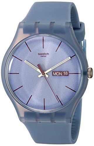 腕時計 スウォッチ メンズ 夏の腕時計特集 【送料無料】Swatch Unisex SUOS701 Quartz Plastic Violet Dial Watch腕時計 スウォッチ メンズ 夏の腕時計特集