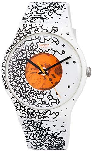 スウォッチ 腕時計 メンズ 【送料無料】Swatch Unisex Adult Analogue Quartz Watch with Silicone Strap SUOW167スウォッチ 腕時計 メンズ