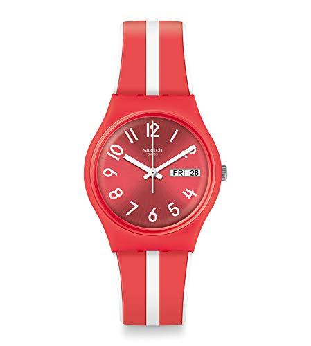 スウォッチ 腕時計 レディース 夏の腕時計特集 【送料無料】Swatch Women's Quartz Watch with Silicone Strap, White, 18 (Model: GR709)スウォッチ 腕時計 レディース 夏の腕時計特集