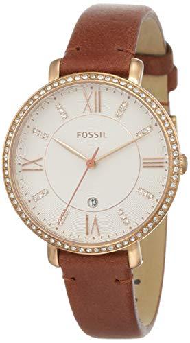 フォッシル 腕時計 レディース 【送料無料】Fossil Women's Jacqueline Stainless Steel Quartz Leather Strap, Brown, 14 Casual Watch (Model: ES4413)フォッシル 腕時計 レディース